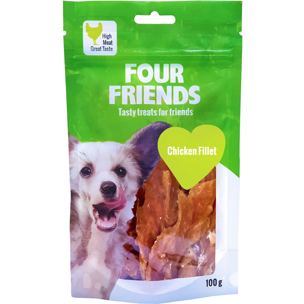 Hundegodis  Chicken Fillet 100 g FourFriends