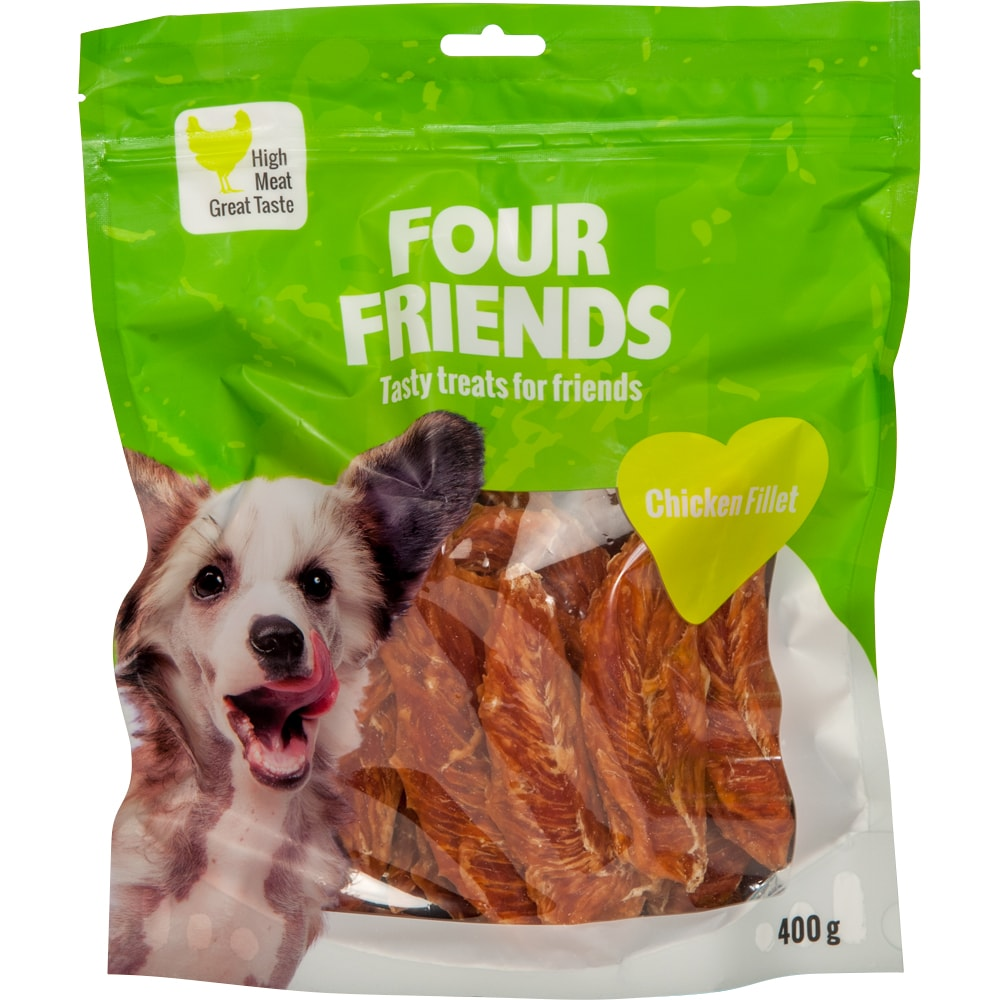 Hundegodis  Chicken Fillet 400 g FourFriends