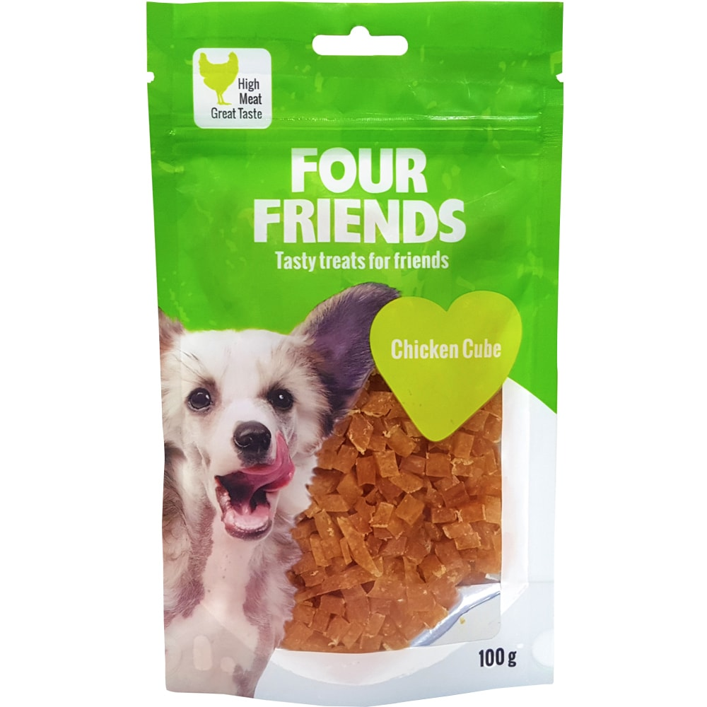 Hundegodis  Chicken Cube 100 g FourFriends