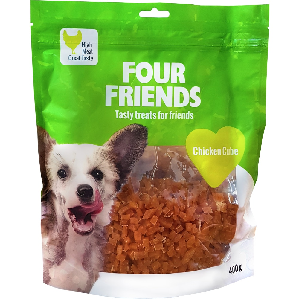 Hundegodis  Chicken Cube 400 g FourFriends