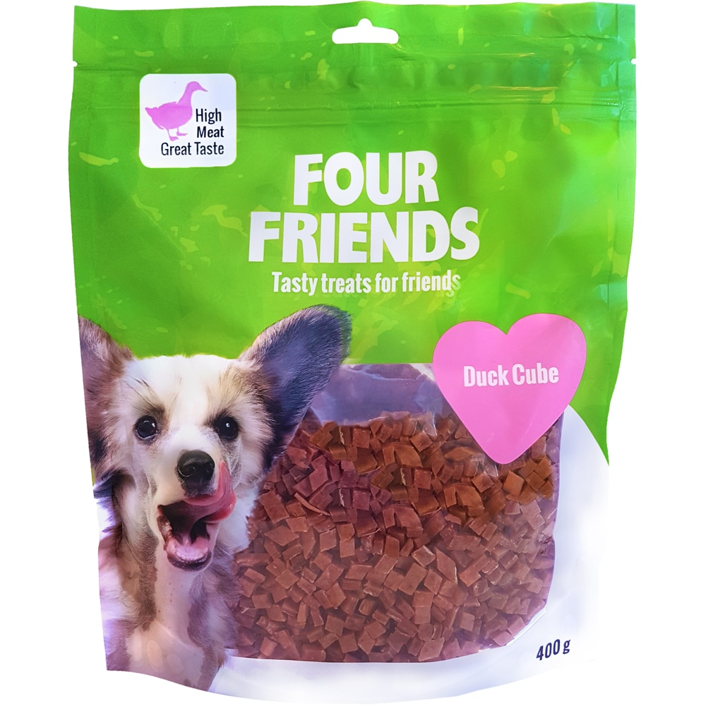 Hundegodis  Duck Cube 400 g FourFriends