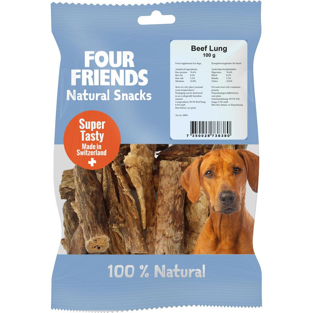 Naturlig tyggevarer  Beef Lung 100 g FourFriends