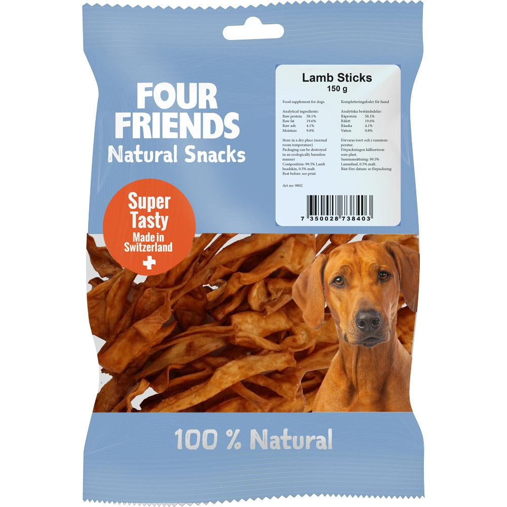 Naturlig tyggevarer  Lamb Sticks 150 g FourFriends