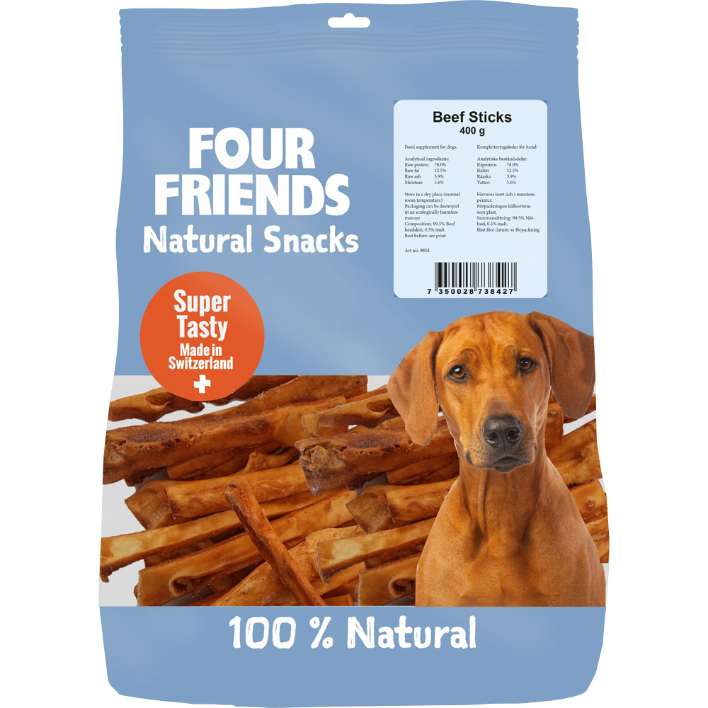 Naturlig tyggevarer  Beef Sticks 400 g FourFriends