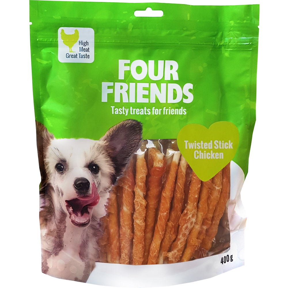 Hundetygg  Twisted Stick Chicken 400 g FourFriends