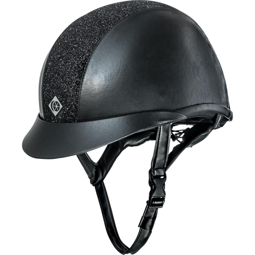 Ridehjelm VG1 AYR8 Plus Sparkly Leather Look Charles Owen