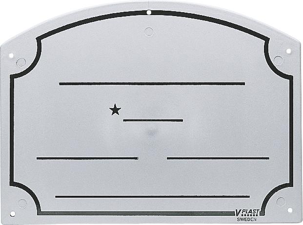 Boksskilt Navn  V-PLAST