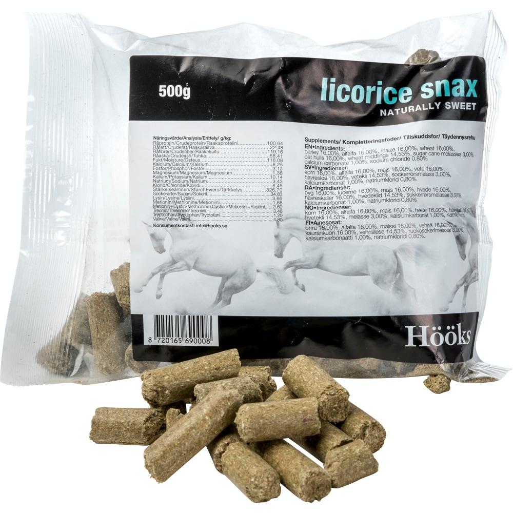 Hestegodbiter 1 kg Licorice Snax Hööks