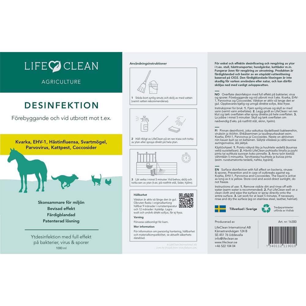Desinfeksjonsmiddel   LifeClean